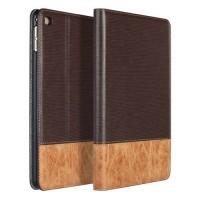Текстурный чехол подставка с внутренними отсеками и тканевым покрытием для Ipad Mini 4 Коричневый