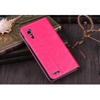 Чехол флип подставка глянцевый для Lenovo P780 Ideaphone Розовый