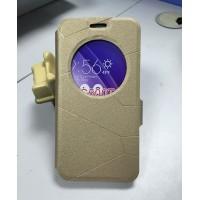 Текстурный чехол флип подставка с круглым окном вызова и магнитной застежкой для ASUS Zenfone Go