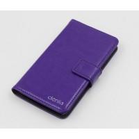 Клеевой чехол портмоне подставка с магнитной защелкой для Philips Xenium V526 Фиолетовый