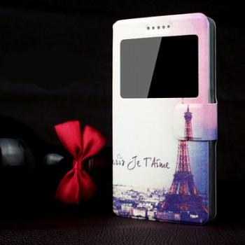 Чехол флип подставка с окном вызова и полноповерхностным принтом для ASUS Zenfone 2 Laser 5.5 ZE550KL