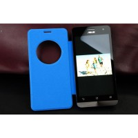 Встраиваемый чехол флип с фирменным круглым окном вызова для ASUS Zenfone 2 Laser 5.5 ZE550KL Синий