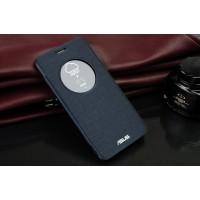 Встраиваемый чехол флип с фирменным круглым окном вызова для ASUS Zenfone 2 Laser 5.5 ZE550KL Черный