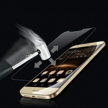 Ультратонкое износоустойчивое сколостойкое олеофобное защитное стекло-пленка для Huawei G8