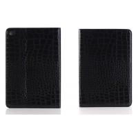 Чехол подставка с внутренними отсеками серия Croco Pattern для Ipad Mini 4 Черный