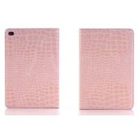 Чехол подставка с внутренними отсеками серия Croco Pattern для Ipad Mini 4 Розовый