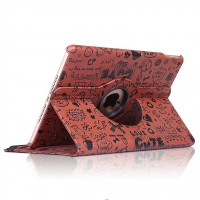 Текстурный чехол подставка роторный для Ipad Mini 4 Коричневый