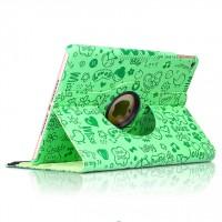 Текстурный чехол подставка роторный для Ipad Mini 4 Зеленый