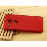 Пластиковый матовый чехол Металлик для Google LG Nexus 5X Красный