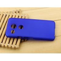 Пластиковый матовый чехол Металлик для Google LG Nexus 5X Синий
