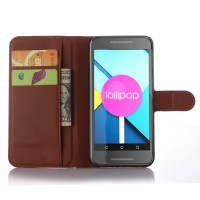 Чехол портмоне подставка с защелкой для Google LG Nexus 5X Коричневый