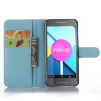 Чехол портмоне подставка с защелкой для Google LG Nexus 5X Голубой