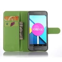 Чехол портмоне подставка с защелкой для Google LG Nexus 5X Зеленый