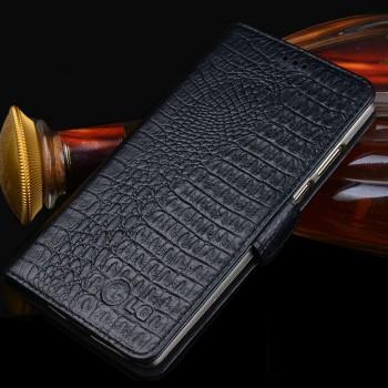 Кожаный чехол портмоне подставка (нат. кожа крокодила) для Google LG Nexus 5X