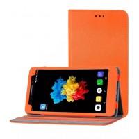 Чехол подставка с рамочной защитой экрана текстура Шерсть для Lenovo Phab Plus Оранжевый