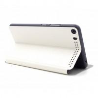 Текстурный чехол флип подставка на поликарбонатной основе для Lenovo Phab Plus Белый