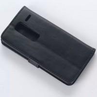 Винтажный чехол портмоне подставка с защелкой для LG Class Черный