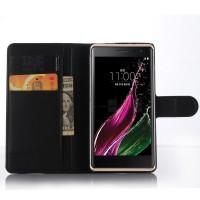 Чехол портмоне подставка с магнитной застежкой для LG Class Черный