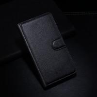 Чехол портмоне подставка с защелкой для Samsung Galaxy Core 2 Черный