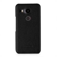Кожаный чехол накладка (нат. кожа) для Google LG Nexus 5X