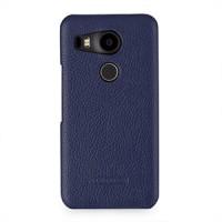 Кожаный чехол накладка (нат. кожа) для Google LG Nexus 5X Синий