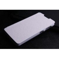 Чехол флип на пластиковой основе для Lenovo A1000 Белый