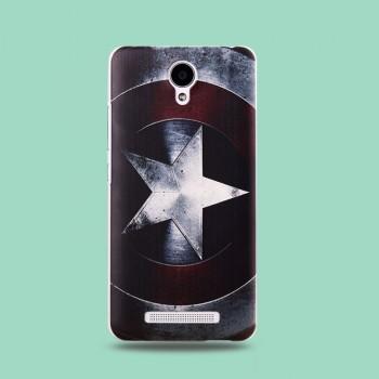 Пластиковый матовый дизайнерский чехол с эксклюзивной серией принтов для Xiaomi RedMi Note 2