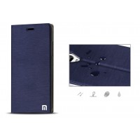 Чехол флип подставка на присоске с отделением для карты для Xiaomi RedMi Note 2 Синий