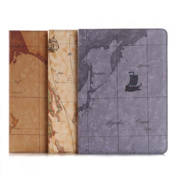 Текстурный чехол подставка на поликарбонатной основе с внутренними отсеками и полноповерхностным принтом Карта для Ipad Pro