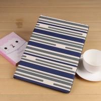 Текстурный чехол подставка на поликарбонатной основе с внутренними отсеками и полноповерхностным принтом для Ipad Pro Синий