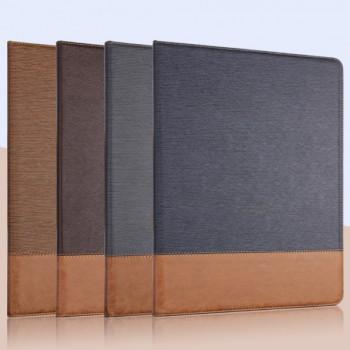 Текстурный чехол подставка с внутренними отсеками и тканевым покрытием для Ipad Pro