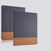 Текстурный чехол подставка с внутренними отсеками и тканевым покрытием для Ipad Pro Синий