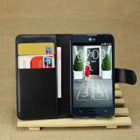 Чехол портмоне подставка с защелкой для LG L70 Черный