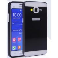 Двухкомпонентный чехол с металлическим бампером и поликарбонатной накладкой для Samsung Galaxy Core Prime