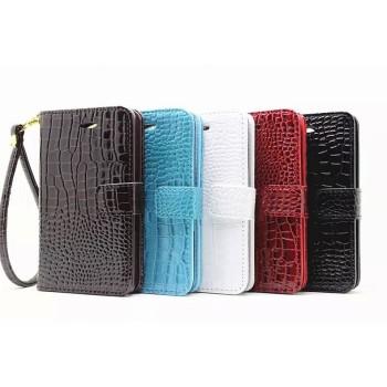 Чехол портмоне подставка с защелкой серия Croco Pattern для Sony Xperia E4