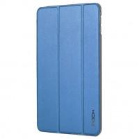 Чехол смарт флип подставка сегментарный на пластиковой полупрозрачной основе для Ipad Mini 4 Синий