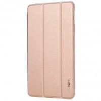 Чехол смарт флип подставка сегментарный на пластиковой полупрозрачной основе для Ipad Mini 4 Розовый