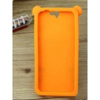 Силиконовый дизайнерский фигурный чехол  для HTC One A9 Оранжевый