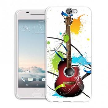 Силиконовый матовый дизайнерский чехол с принтом для HTC One A9