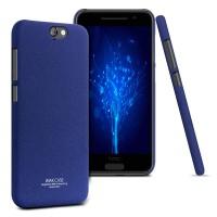 Пластиковый матовый чехол с повышенной шероховатостью для HTC One A9 Синий