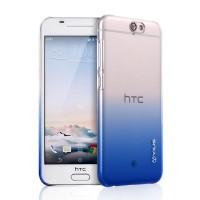 Пластиковый градиентный полупрозрачный чехол для HTC One A9 Синий