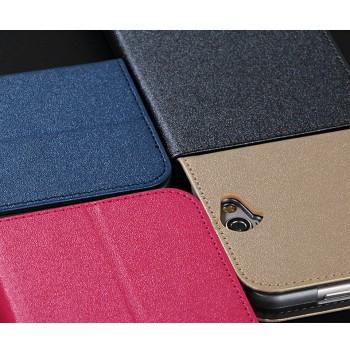 Текстурный чехол флип подставка на пластиковой основе с отделением для карт для HTC One A9