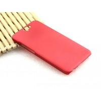 Пластиковый матовый Металлик чехол для HTC One A9 Красный