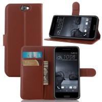 Чехол портмоне подставка на пластиковой основе с защелкой для HTC One A9