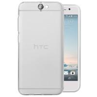 Силиконовый матовый полупрозрачный чехол для HTC One A9 Белый