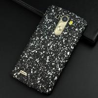 Пластиковый матовый дизайнерский чехол с голографическим принтом Звезды для LG G3 (Dual-LTE) Белый