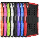 Антиударный гибридный чехол экстрим защита силикон/поликарбонат с ножкой-подставкой для Sony Xperia Z5 Premium