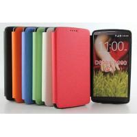 Текстурный чехол флип подставка на силиконовой основе для LG G3 (Dual-LTE)