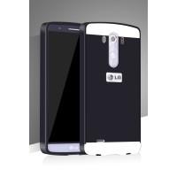 Двухкомпонентный чехол с металлическим бампером и поликарбонатной накладкой для LG G3 (Dual-LTE)