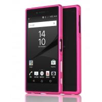 Металлический двухкомпонентный сборный бампер для Sony Xperia Z5 Premium Пурпурный
